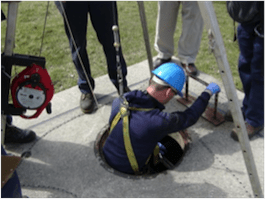 Confined Spaces Entry Drill